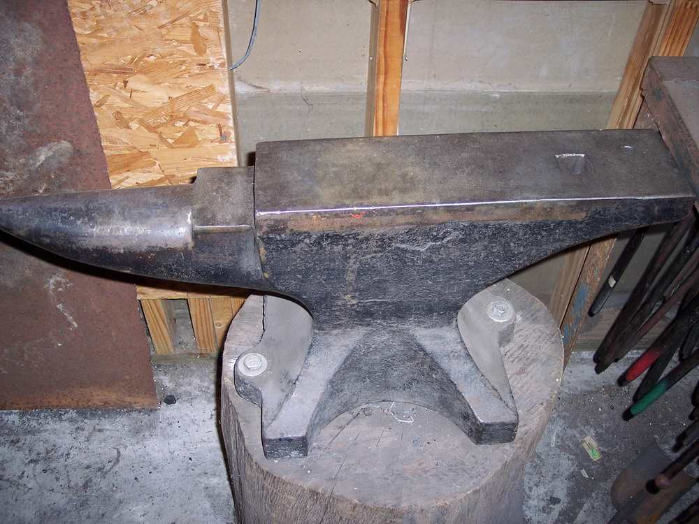 An Anvil Bolted To A Stump