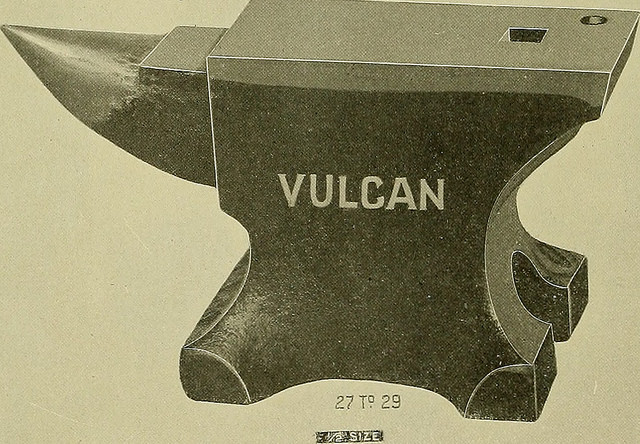 A drawing of a vulcan anvil