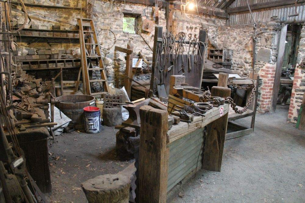 A blacksmith shop, photo courtesy of the south Australian history network